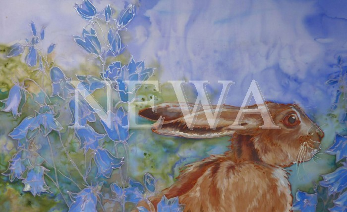 Hare And Harebells by Jackie Cox